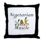 TOP Vegetarian Muscle Throw Pillow