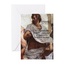 Aristotle Education Quote Greeting Cards (Package