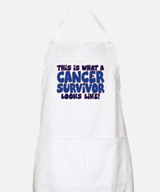CANCER SURVIVOR (BLUE) Apron