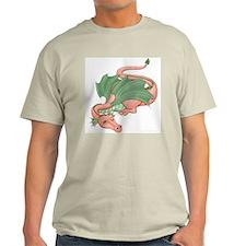 Coral Dragon Ash Grey T-Shirt