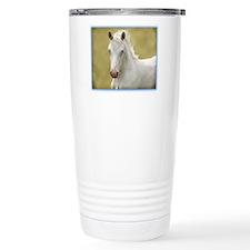 White Colt Travel Mug