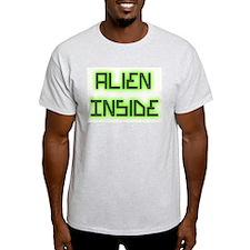 Alien Inside Ash Grey T-Shirt