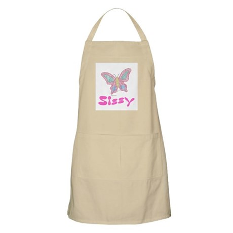 Pink Butterfly Sissy BBQ Apron