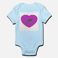 Pink Moose Heart Infant Creeper