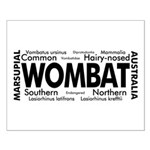 Wombat Words Small Poster
