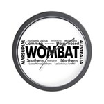 Wombat Words Wall Clock