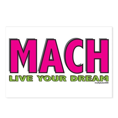 MACH live your dream Postcards (Package of 8)