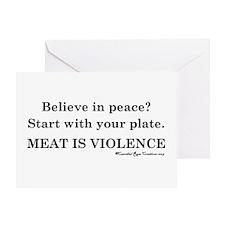 Peaceful Eating Greeting Card