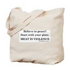 Peaceful Eating Tote Bag