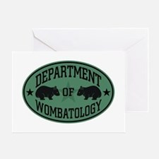 Department of Wombatology Greeting Card