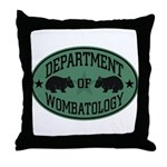 Department of Wombatology Throw Pillow