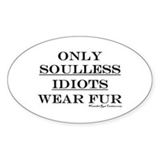 Anti-Fur Oval Decal