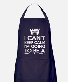 I Cant Keep Calm Im Going To Be A Dad Apron (dark)