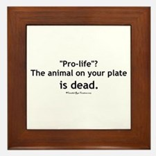 Eat Pro-Life Framed Tile
