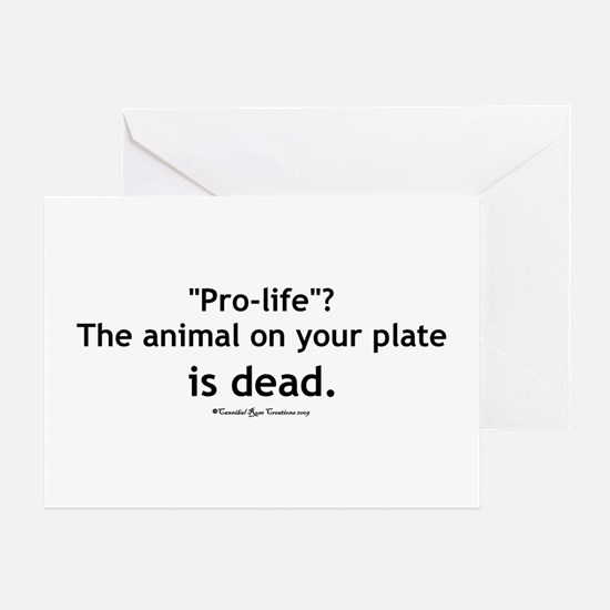 Eat Pro-Life Greeting Card
