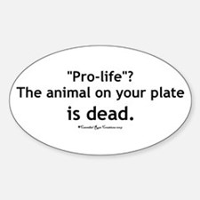 Eat Pro-Life Oval Decal