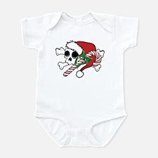 Cute Santa Skull Infant Bodysuit