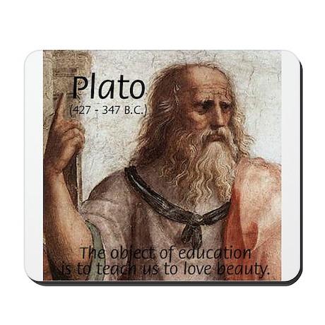 Plato Education Love Beauty Mousepad