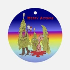 Merry Axemas Ornament (Round)