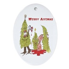 Merry Axemas Oval Ornament