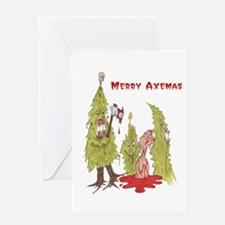 Merry Axemas Greeting Card