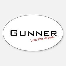 Gunner / Dream! Oval Decal