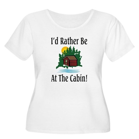 At The Cabin Women's Plus Size Scoop Neck T-Shirt