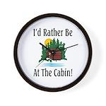 At The Cabin Wall Clock