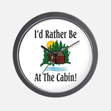 At The Cabin Wall Clock