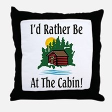At The Cabin Throw Pillow