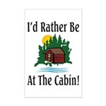 At The Cabin Mini Poster Print