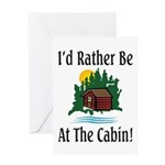 At The Cabin Greeting Card
