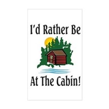 At The Cabin Rectangle Decal