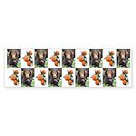 Chimp Peach Bumper Sticker