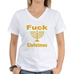 Fuck X-mas Women's V-Neck T-Shirt