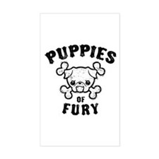 Puppies of Fury Rectangle Decal