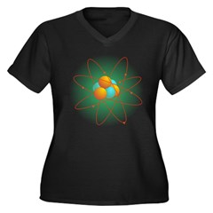 Atom Women's Plus Size V-Neck Dark T-Shirt