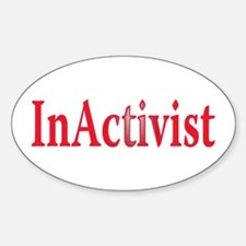 inactivist Oval Decal