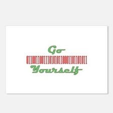 go binary yourself Postcards (Package of 8)