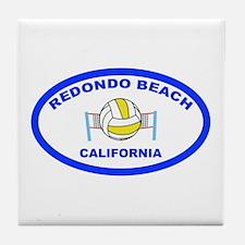 Redondo Beach Volleyball Tile Coaster