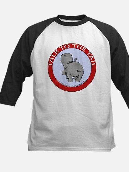 Hippo Talk To The Tail Kids Baseball Jersey