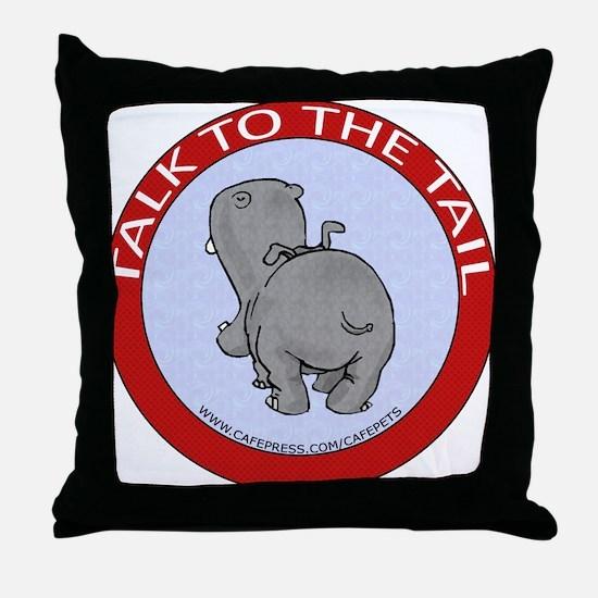 Hippo Talk To The Tail Throw Pillow