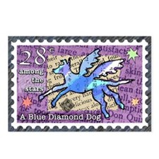 Blue Diamond Dog Postcards (Package of 8)