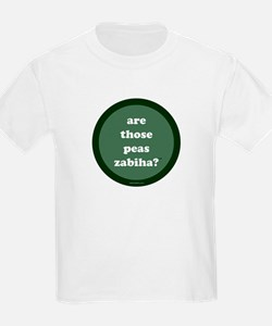 Zabiha Peas Kids T-Shirt (dark green)