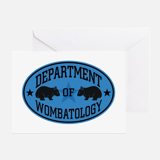 Department of Wombatology Blue Greeting Card
