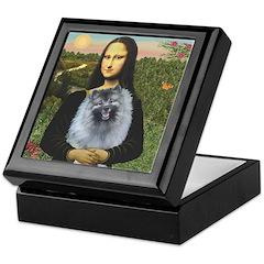 Mona Lisa / Keeshond (F) Keepsake Box