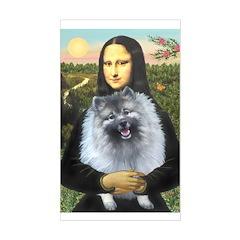 Mona Lisa / Keeshond (F) Sticker (Rectangle)