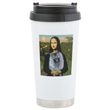Mona Lisa / Keeshond (F) Travel Mug