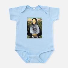 Mona Lisa / Keeshond (F) Infant Bodysuit
