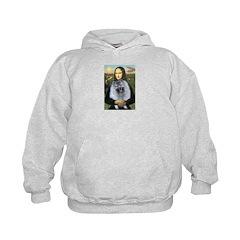 Mona Lisa / Keeshond (F) Hoodie